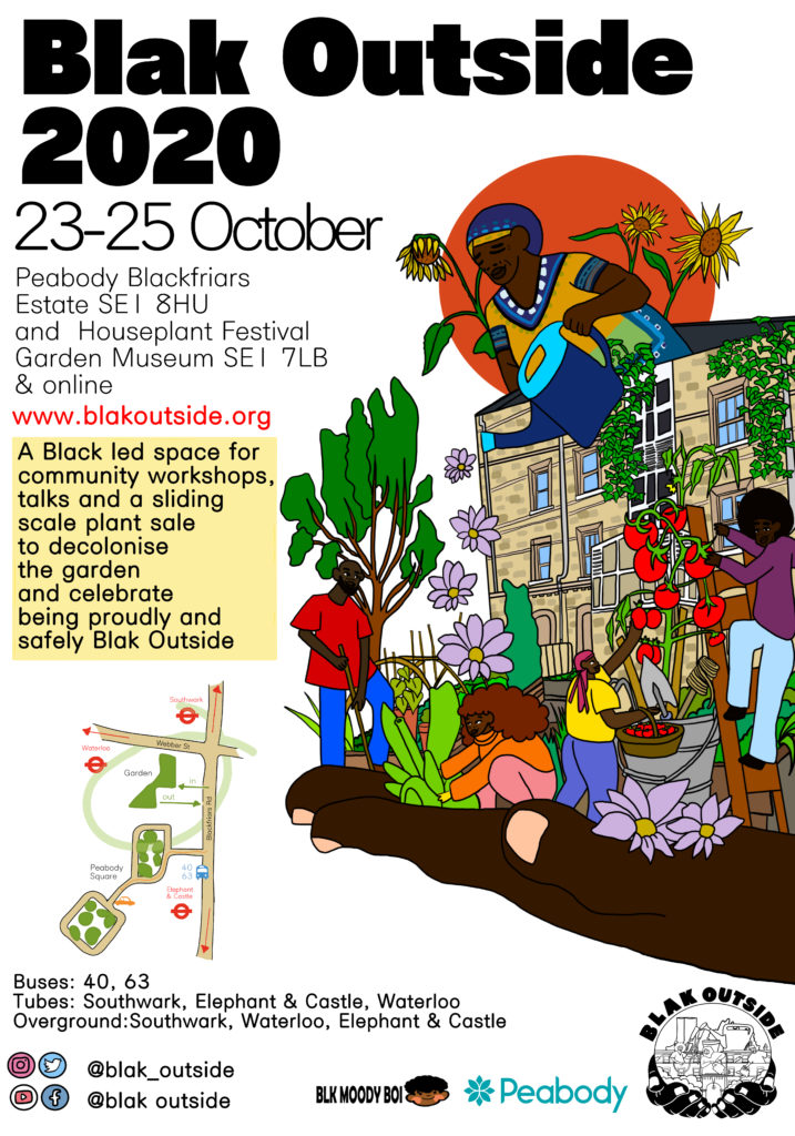 October 23-25 Blak Outside Event Flyer